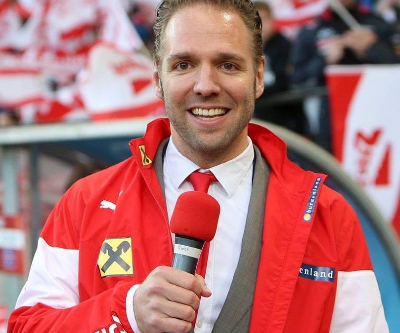 Ronny Leber moderiert Österreich vs. Island am Innsbrucker Tivoli